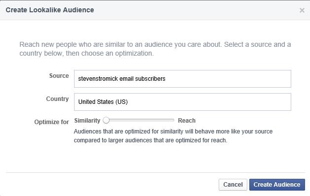 enter audience details