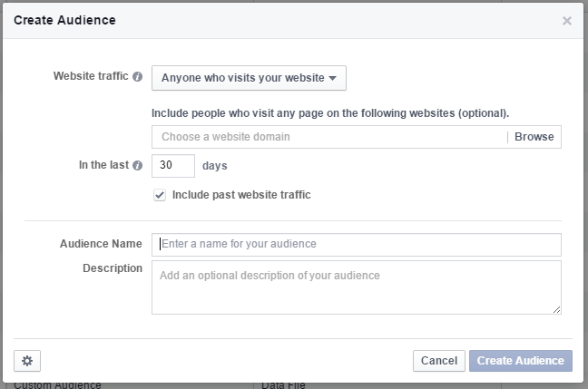 creating a website custom audience